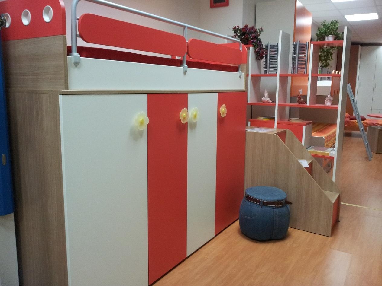 Cameretta soppalco con libreria e scrittoio scontata - Ikea camerette a soppalco ...