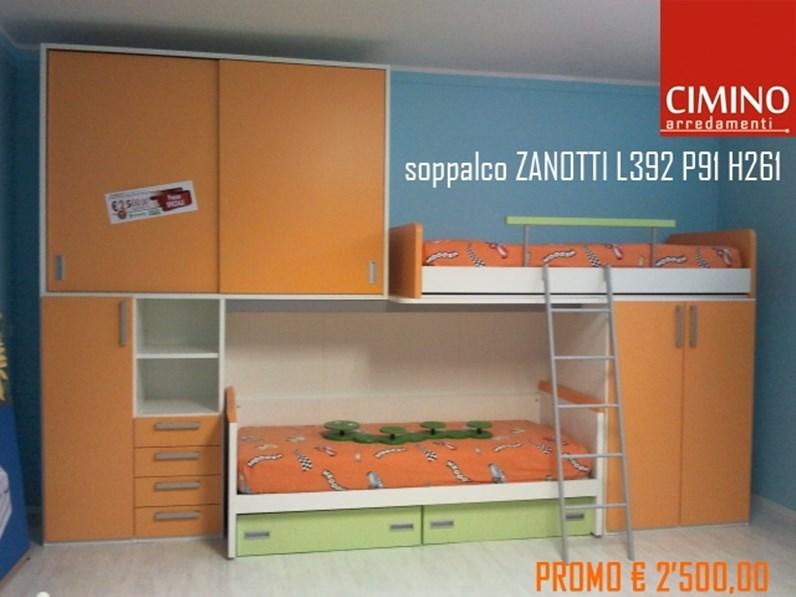 Camerette A Soppalco Moretti.Cameretta Soppalco Zanotti Moretti Compact In Offerta Outlet