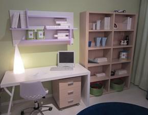 cameretta clever, scrivania con cassettiera e libreria