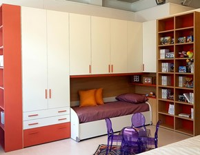 Cameretta Syrius Moretti compact con letto a ponte a prezzo Outlet