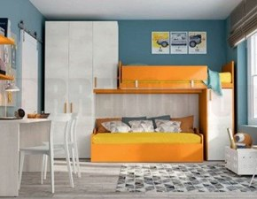 Cameretta Volo c320 Colombini casa con letto a soppalco a prezzo Outlet