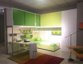 Cameretta Young solution ponte Zalf con letto a terra a prezzo Outlet