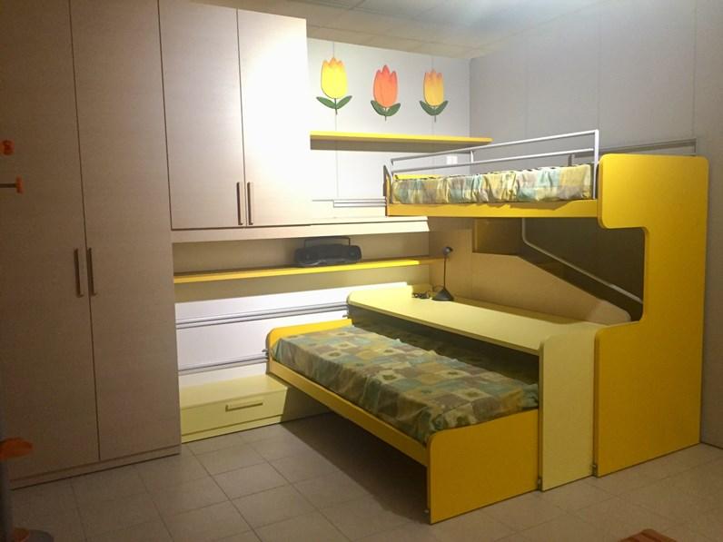 Cameretta young solution scorrevole zalf con letto a soppalco scorrevole scontata - Camerette con letto a soppalco ...