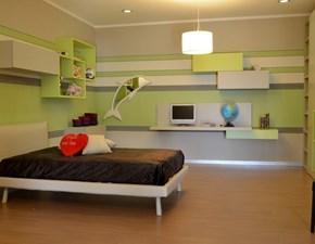 camera moderna zalf, completa di letto e materasso