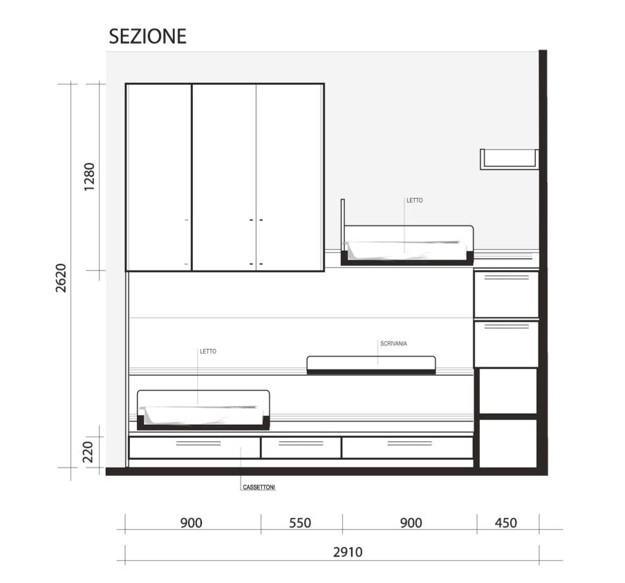 Dimensioni Armadi Ponte ~ Ispirazione Interior Design & Idee Mobili