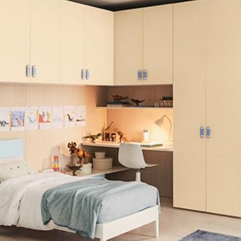 Cameretta zg mobili con ponte e due piani per comodino e for Moderni piani a due piani