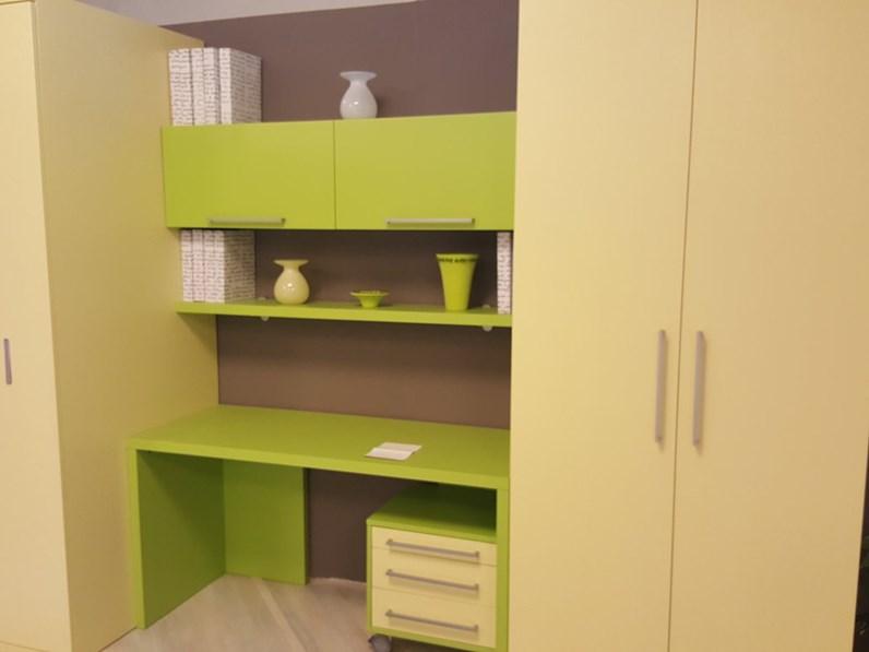 composizione con letto slide L 290 con armadio e scrivania