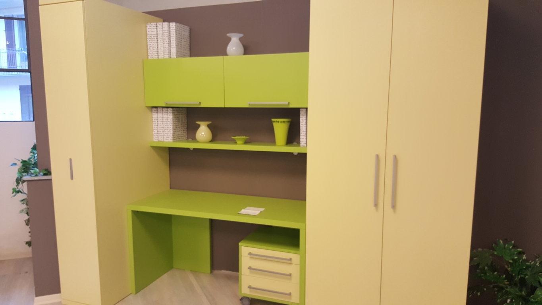 Composizione con letto slide l 290 con armadio e scrivania - Mobile con scrivania ...