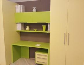 Composizione con letto slide L 290 con armadio e scrivania scontata a Biella vicino a Milano e Torino