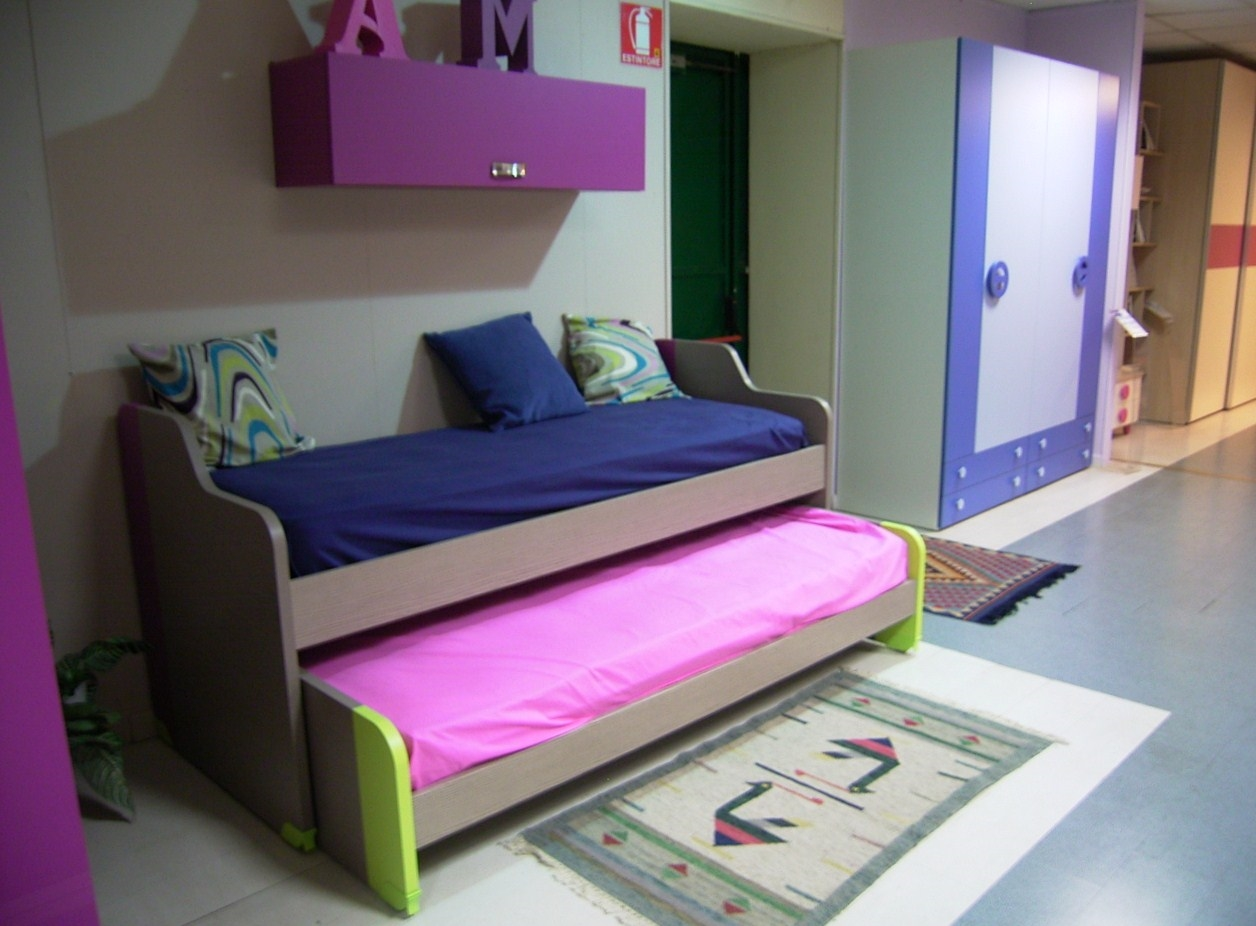 Doppio letto scontato camerette a prezzi scontati - Letto estraibile ...