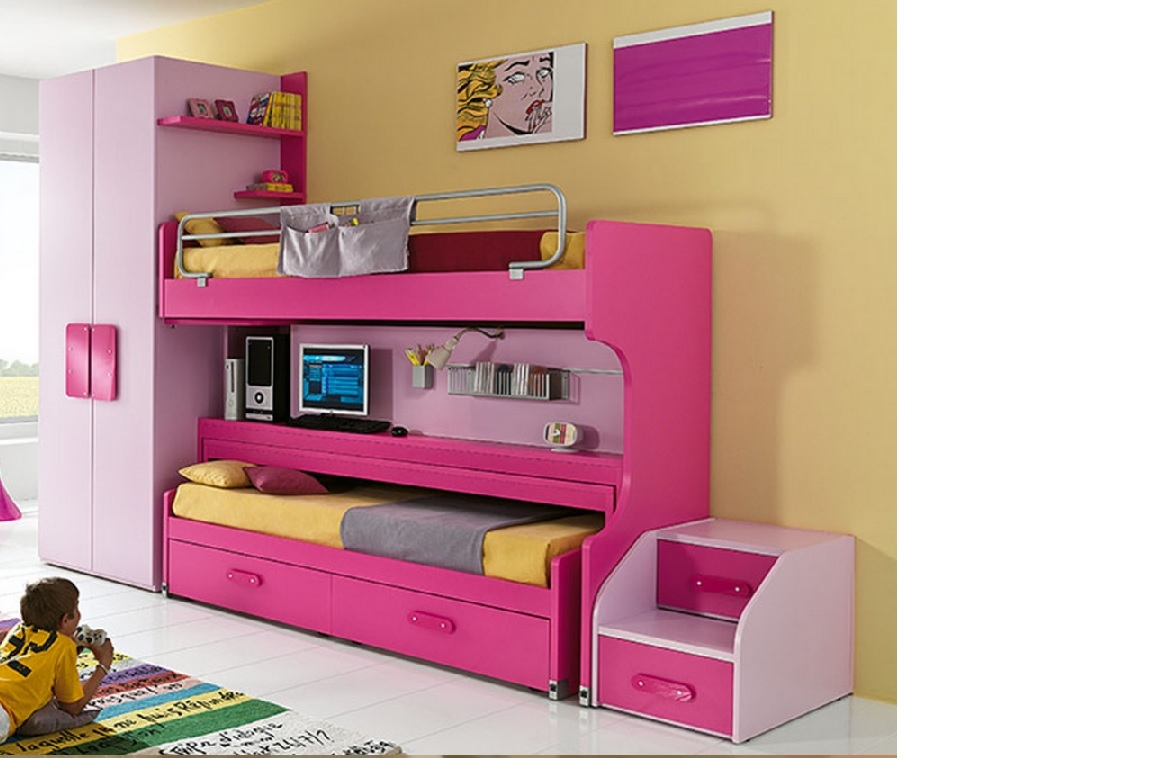 Cameretta ferrimobili a ponte slider desk letto a castello for Mensole colorate ikea
