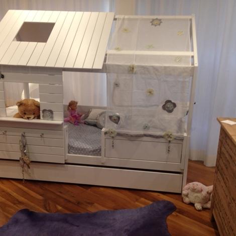 Letto a casetta legno bianco casa coppenaghen camerette a prezzi scontati - Letto legno bianco ...