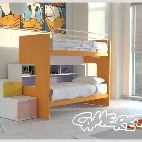 Letto a castello scorrevole con libreria by doimo cityline camerette a prezzi scontati - Camerette letto a castello ...
