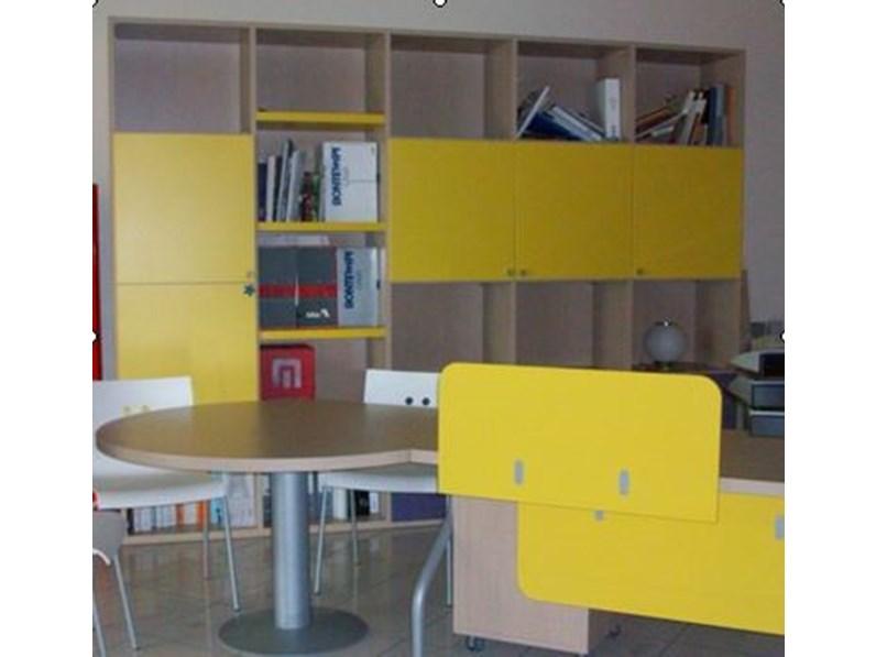 libreria con scrivania sottocosto