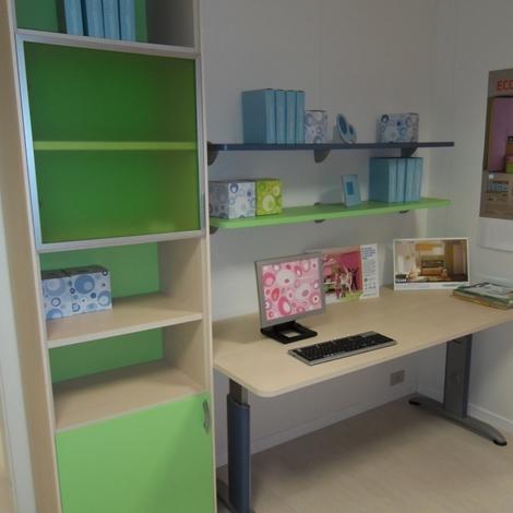 Moretti compact scrivania con libreria camerette a - Moretti compact camerette prezzi ...