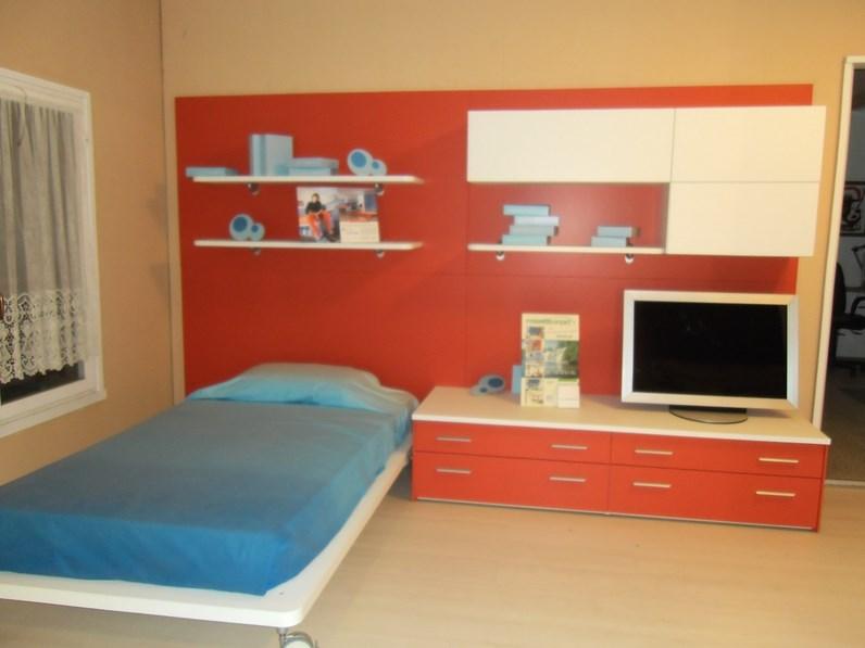 Moretticompact parete letto attrezzata libreria for Spaggiari arredamenti
