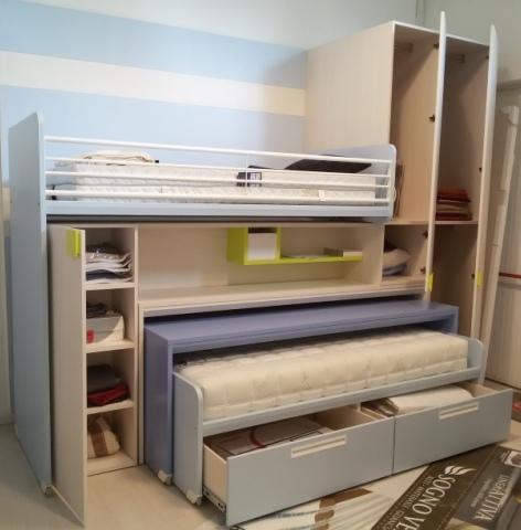 Excellent occasione cameretta con letti scrivania libreria for Scrivania con libreria ikea