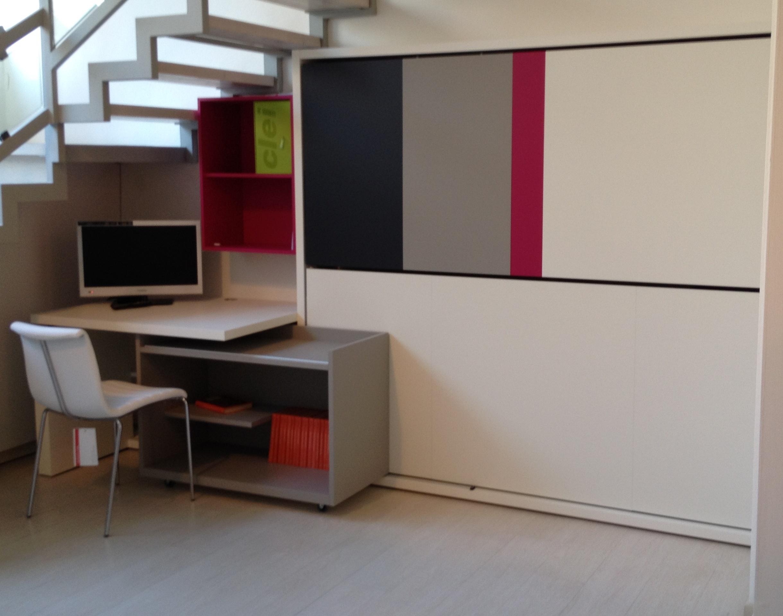 Cameretta clei lollisoft con letti a castello for Mobile scrivania libreria