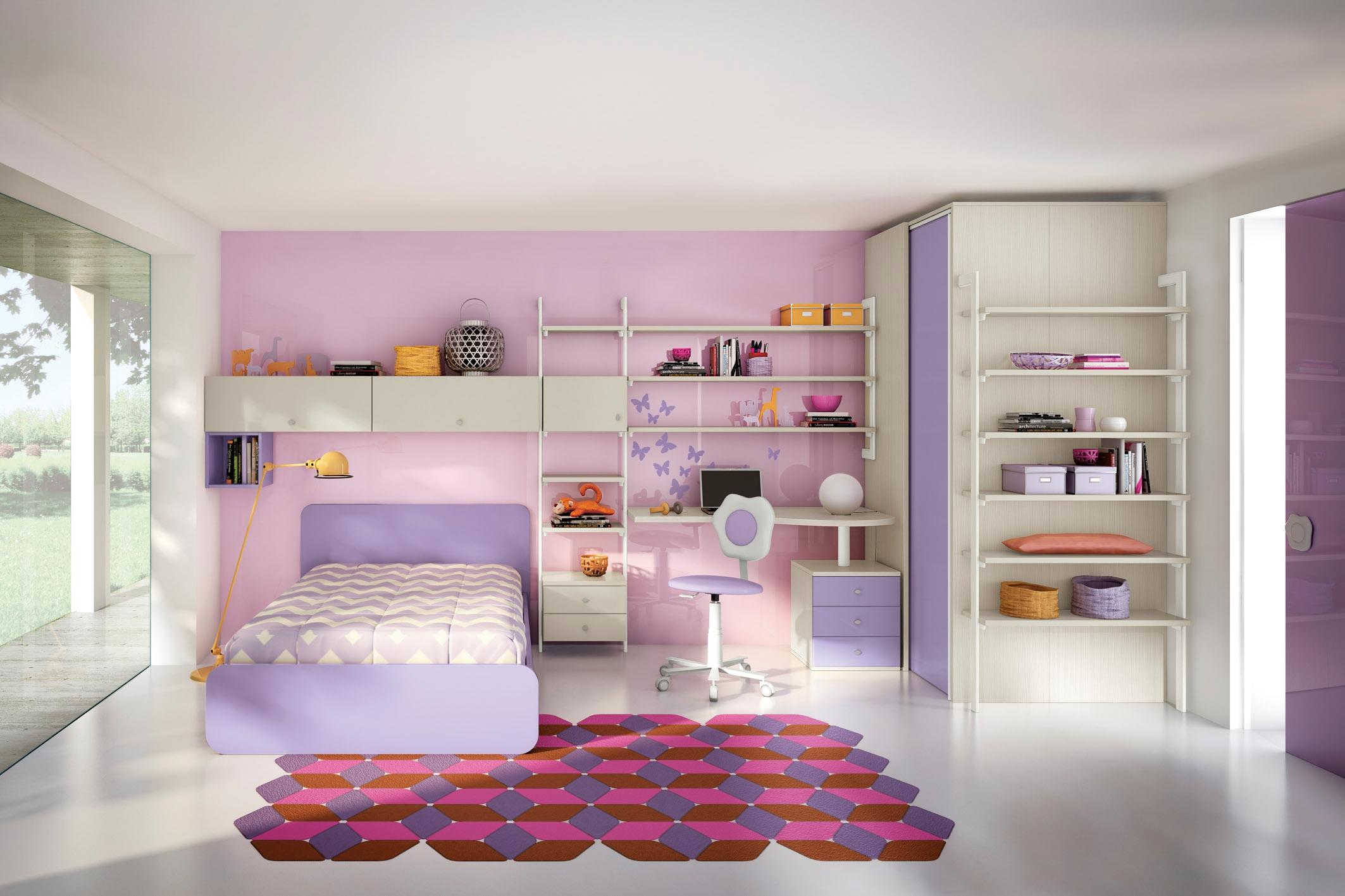Cameretta moderna con cabina armadio camerette a prezzi for Colori pareti camerette ragazzi