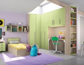 Cameretta angolare con letto/contenitore