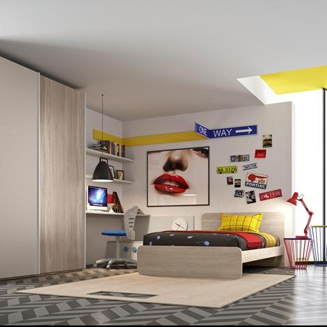 San Martino cameretta con letto piazza e mezza, armadio e ...