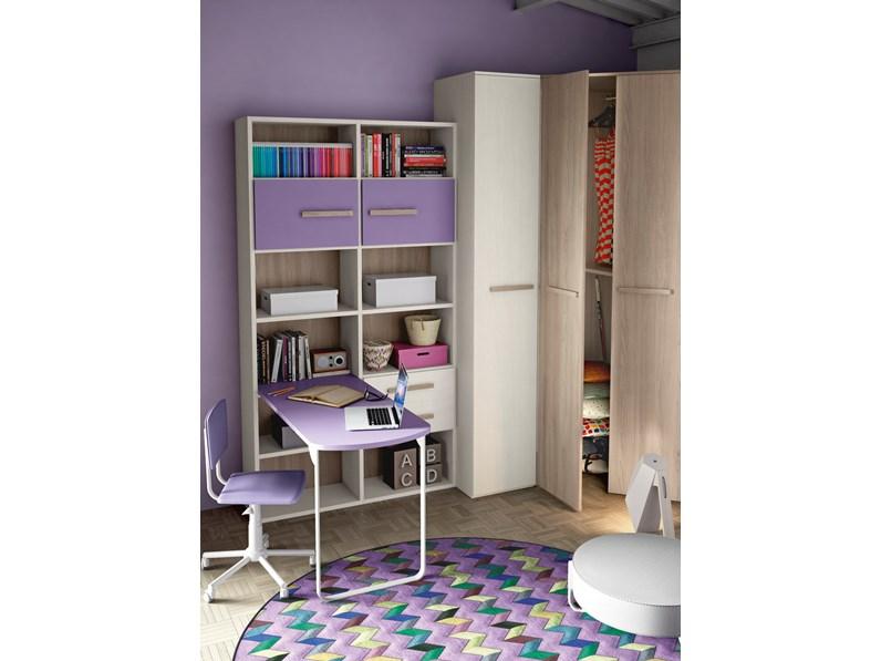 San Martino cameretta ragazzi con letto, scrivania e cabina armadio