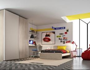 camera moderna san martino con armadio ad ante scorrevoli, scrivania e letto ad una piazza e mezza