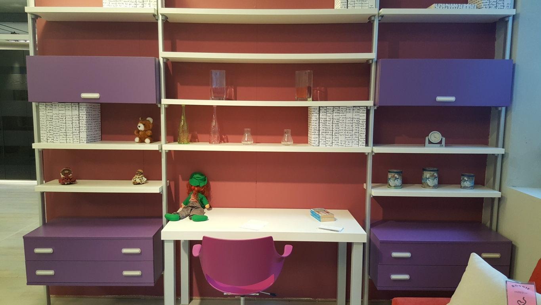 Siloma libreria joker con scrittoio a muro scontata del 50 for Libreria con scrivania incorporata