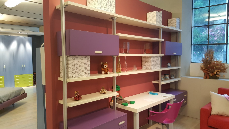 Siloma libreria joker con scrittoio a muro scontata del 50 for Libreria per bambini ikea