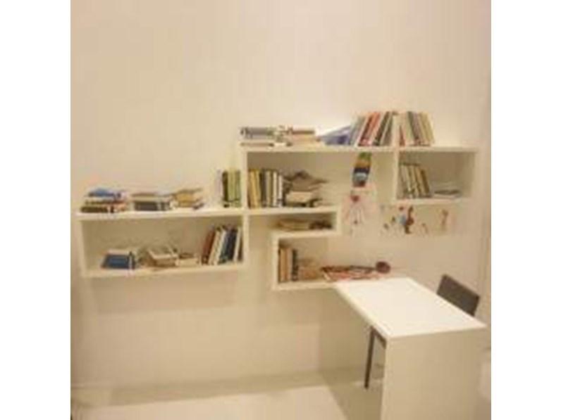 Libreria con scrittoio lago a prezzo ribassato 50 for Libreria lago outlet