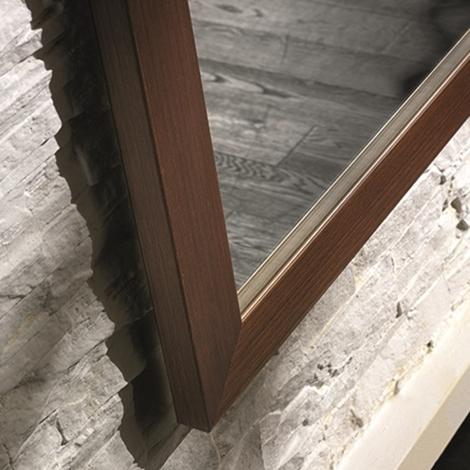 Specchio barausse con cornice noce complementi a prezzi for Specchio noce