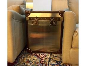 Baule realizzato in acciaio e Cuoio prodotto a mano - Utilizzo anche uso Tavolino - Produzione ORPHEA