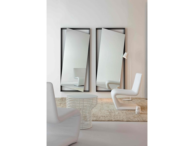 Specchio Parete Struttura Legno Obel Bonaldo : Bonaldo specchiera da parete hang up laccato opaco