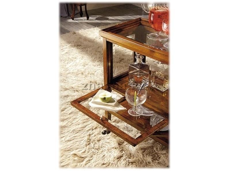 Carrello Tosato in legno massello con vassoio PREZZO OUTLET