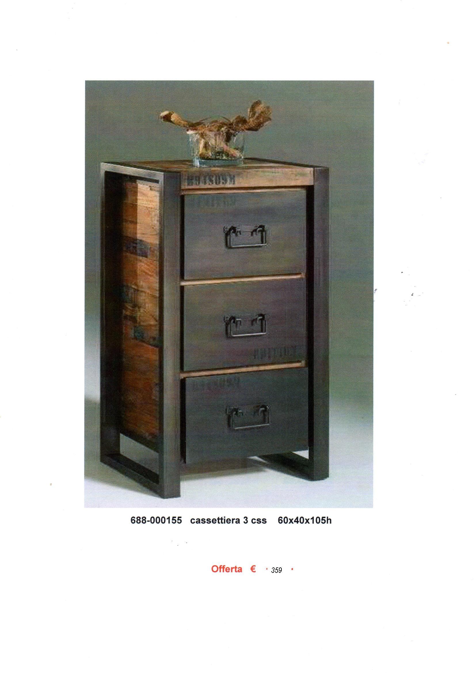 Cassettiera ferro legno parquet complementi a prezzi for Cassettiera legno