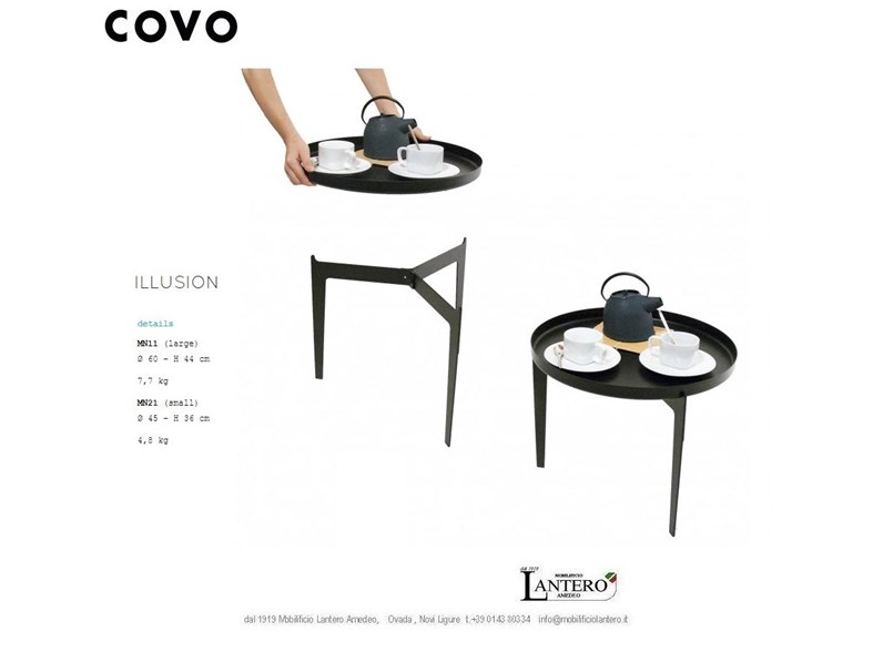 Complemento Covo Illusion , set tavolini covo, buy online, not common things