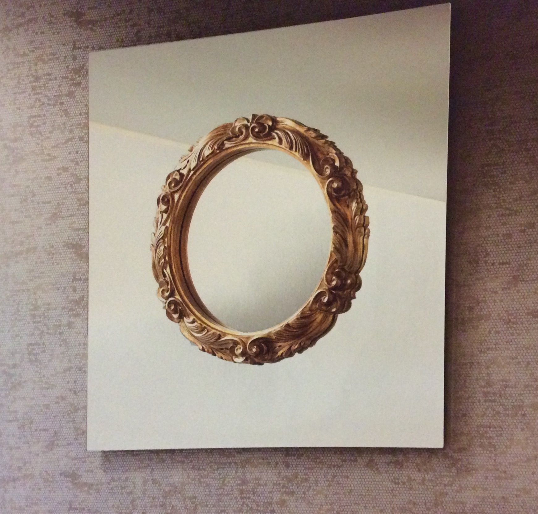 Complemento fiam italia ritratto design vetro specchi - Specchio cornice nera barocca ...