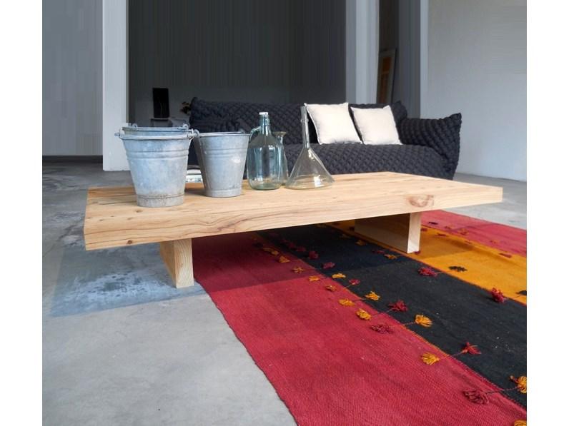 Complemento Riva 1920 Tavolini da salotto in legno cedro massello