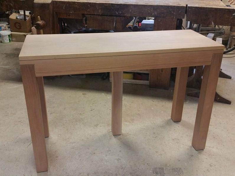 Consolle allungabile in legno massello scontata del 30% impiallacciata