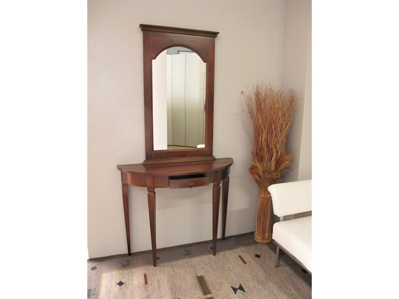 Consolle Ingresso Specchio.Consolle E Specchio In Legno Noce