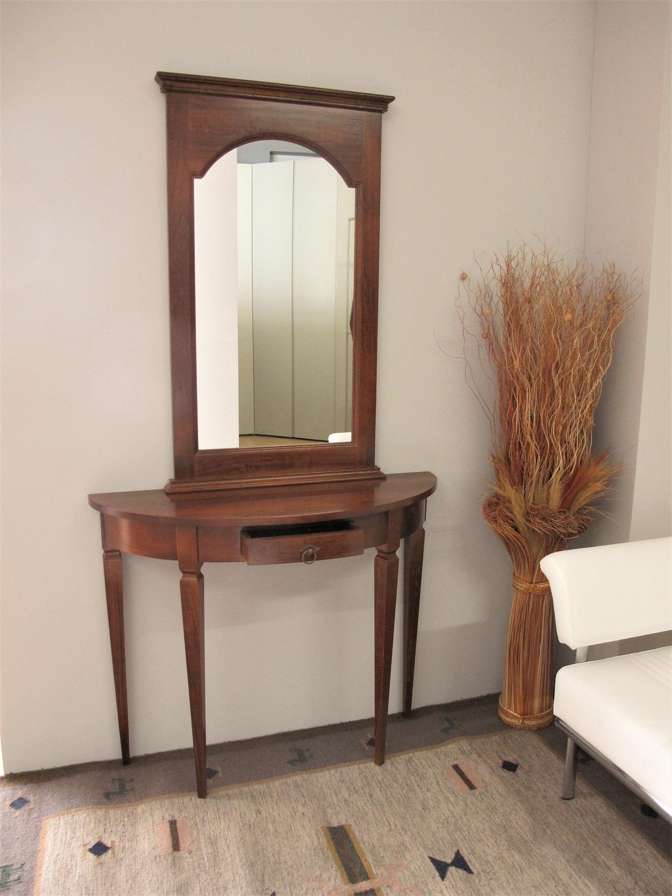 Consolle e specchio in legno noce complementi a prezzi for Specchio noce