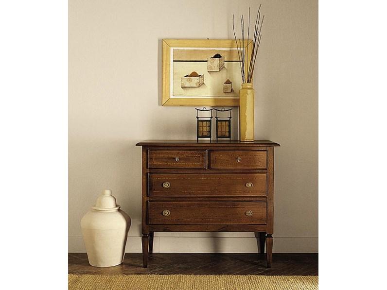 Consolle in stile Classico in legno Artigianale Comoncino stile ...