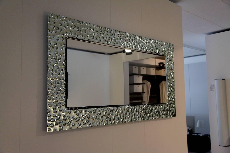 Specchio con cornice ghiaccio con bottoni for Cornice specchio