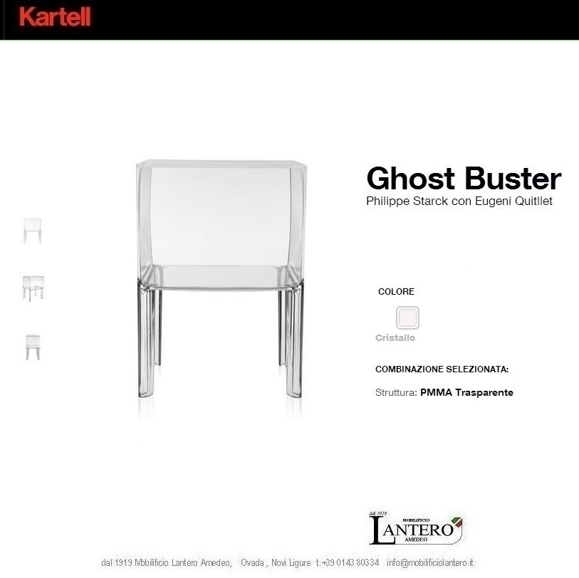 Complemento Kartell Ghost buster , complemento d'arredo kartell