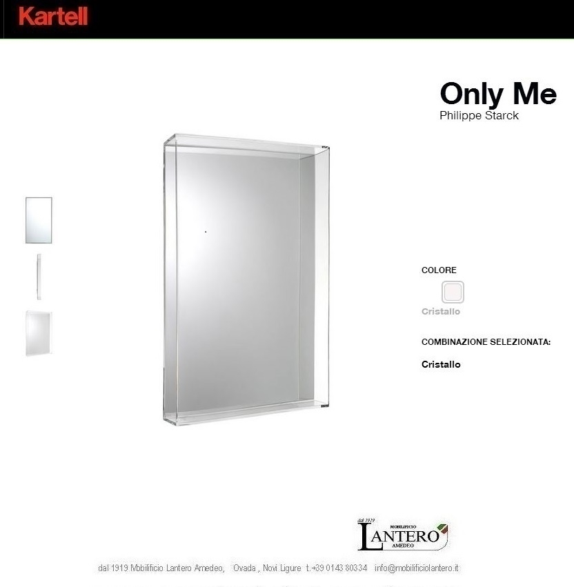 Complemento kartell specchio only me big vendita online for Specchio philippe starck