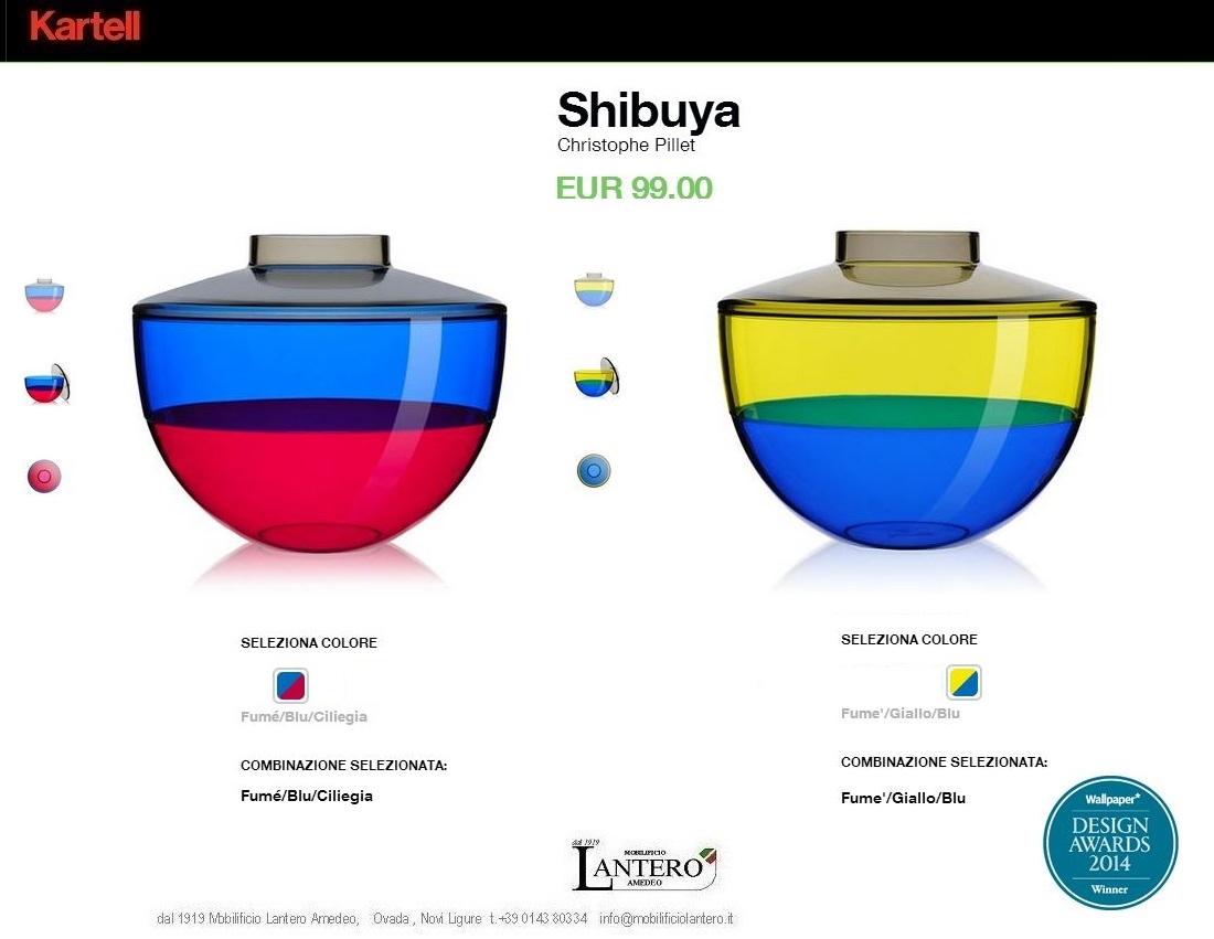 Complemento kartell vasi shibuya vendita online trova for Design vendita online