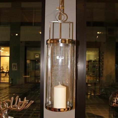 Lanterna da parete realizzata in vetro e metallo cromato - Parete in vetro prezzi ...