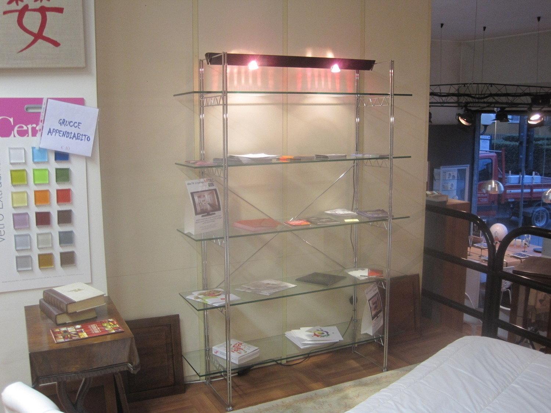 Libreria acciaio e cristallo - Complementi a prezzi scontati