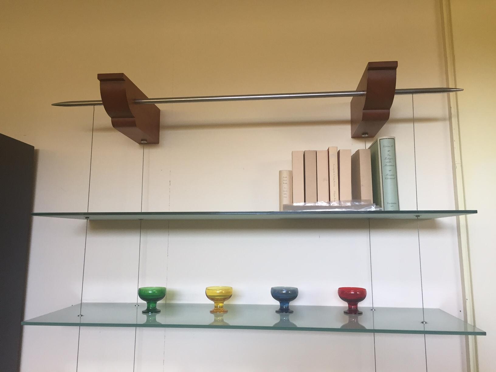 Libreria cattelan italia in vetro sospesa complementi a for Cattelan italia