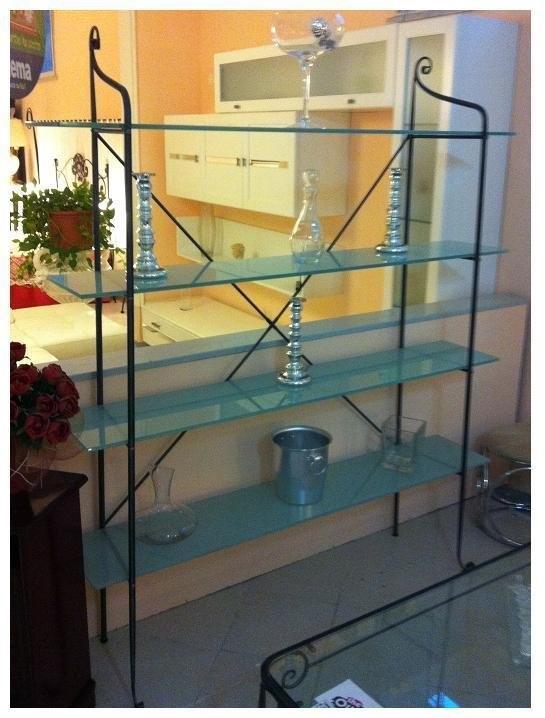 Libreria in cristallo e ferro complementi a prezzi scontati for Libreria in ferro
